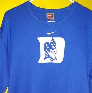 Nike dry fit Duke logo short sleeve shirt